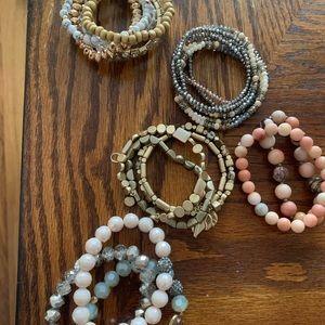 Bundle of sparkly bracelets from Francesca's.